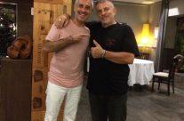 Tommaso y Sergio Dalma en el Restaurant La Bruschetta Altea