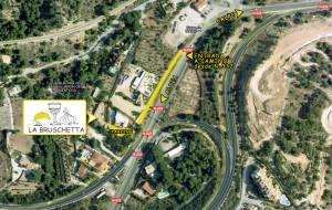 mapa para llegar al restaurante la bruschetta entrada