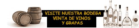 Vinos y grapas en el Restaurante La Bruschetta de Altea