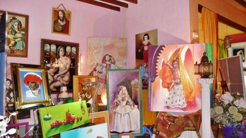 Exposición María Chávez en La Bruschetta